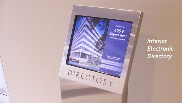 Interior Electronic Directory